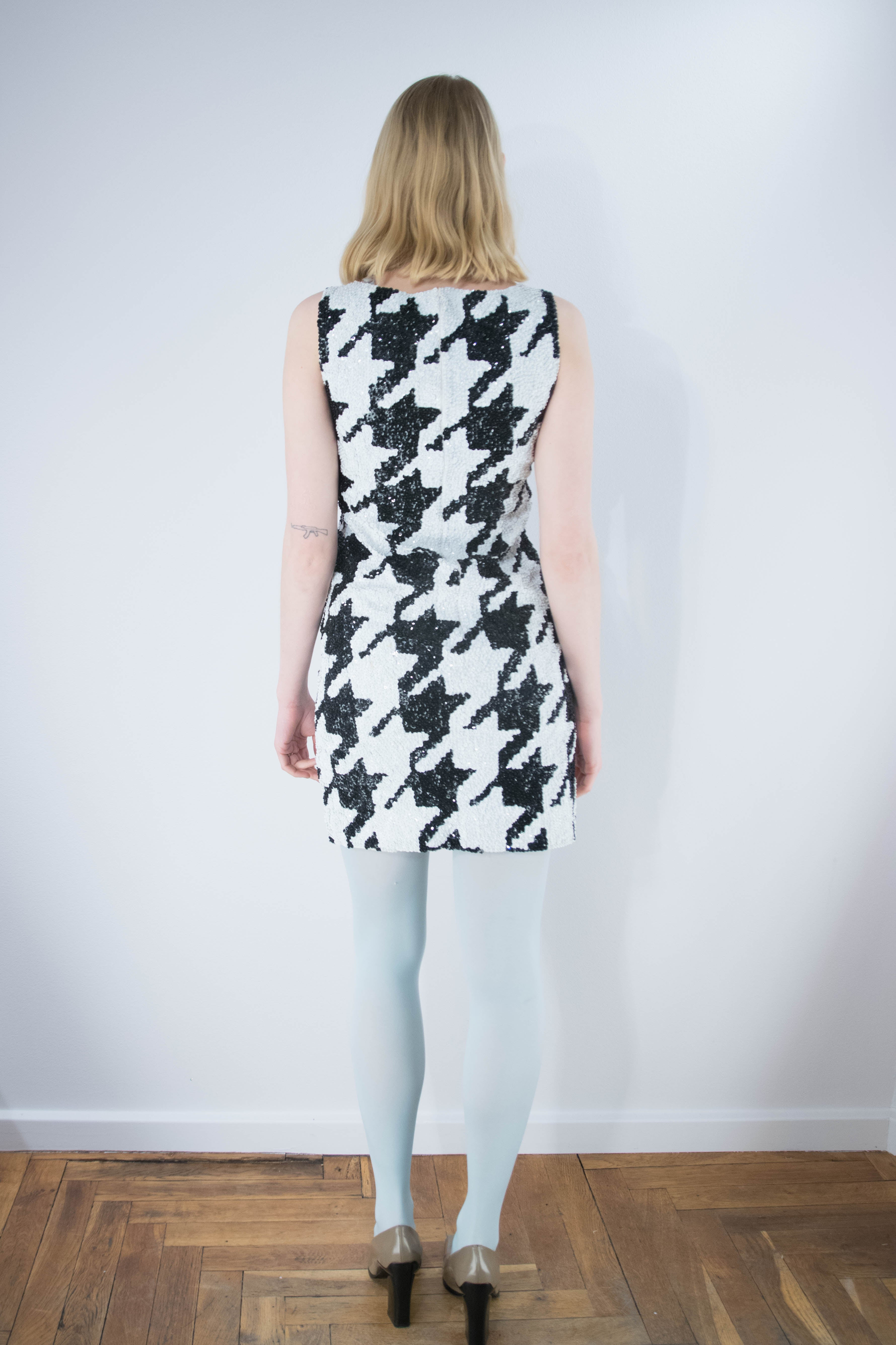 Houndstooth Pailletkjole