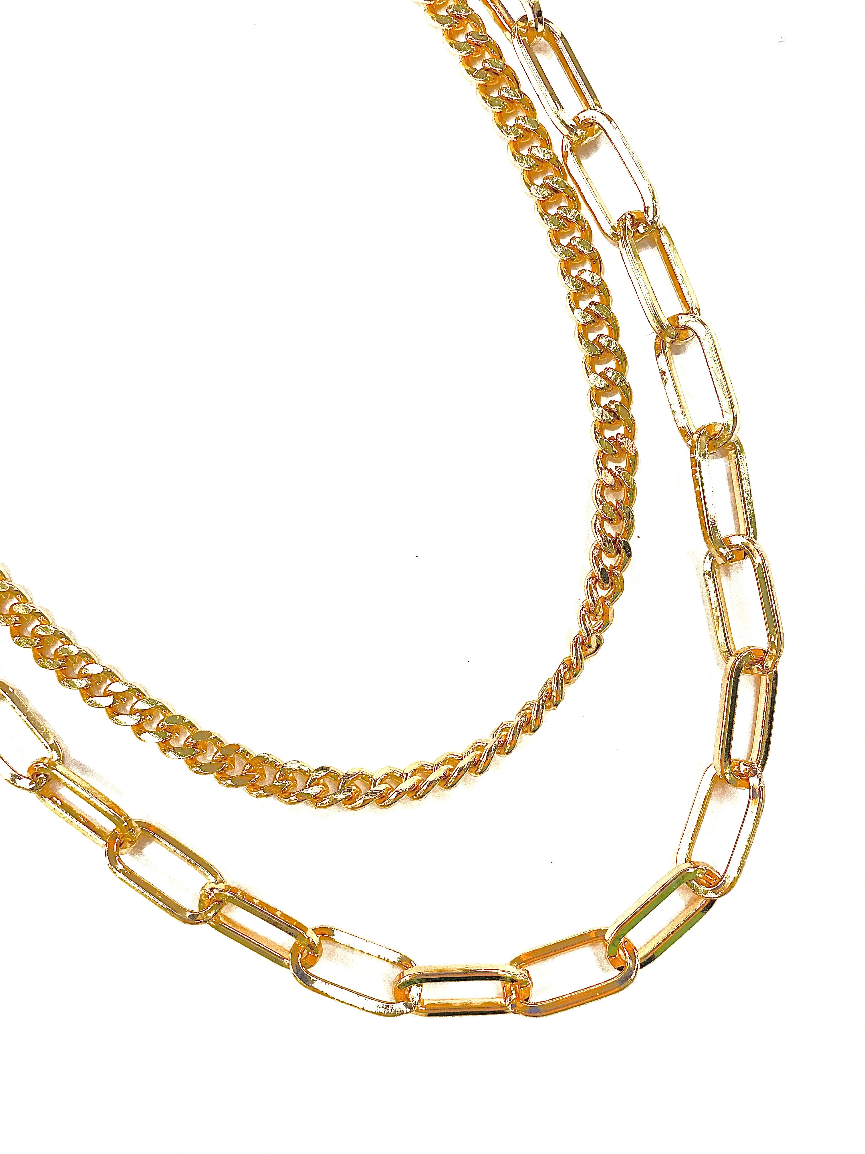 Daisy Double Chain - Gold
