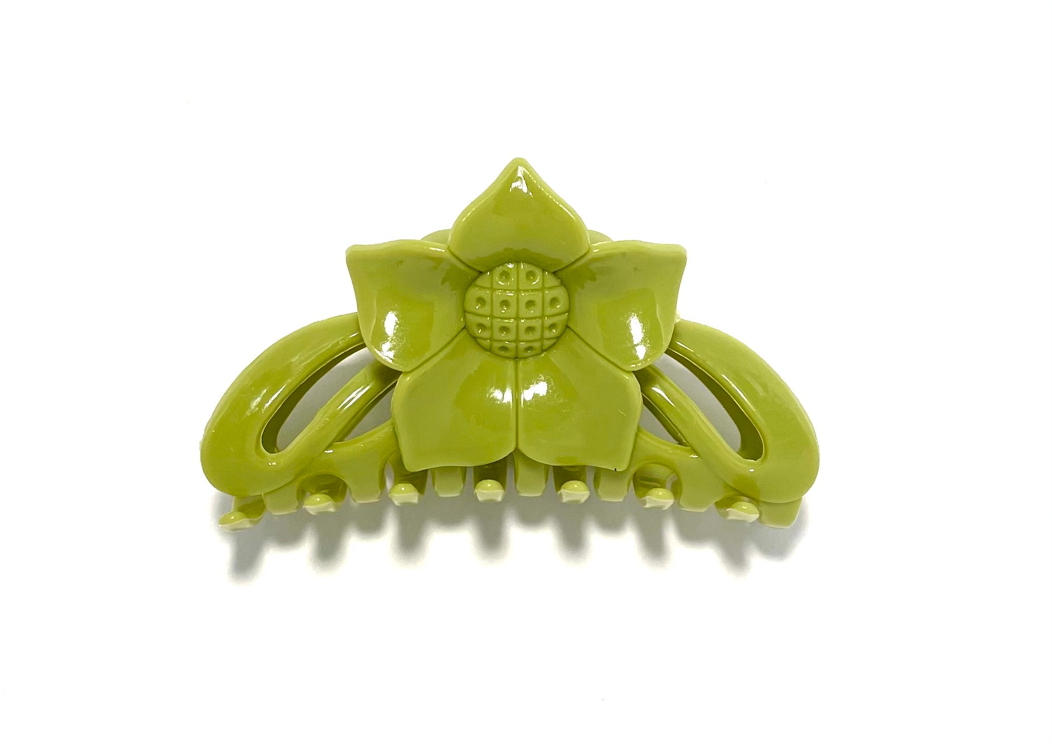 Flower Hairclip Small - Green