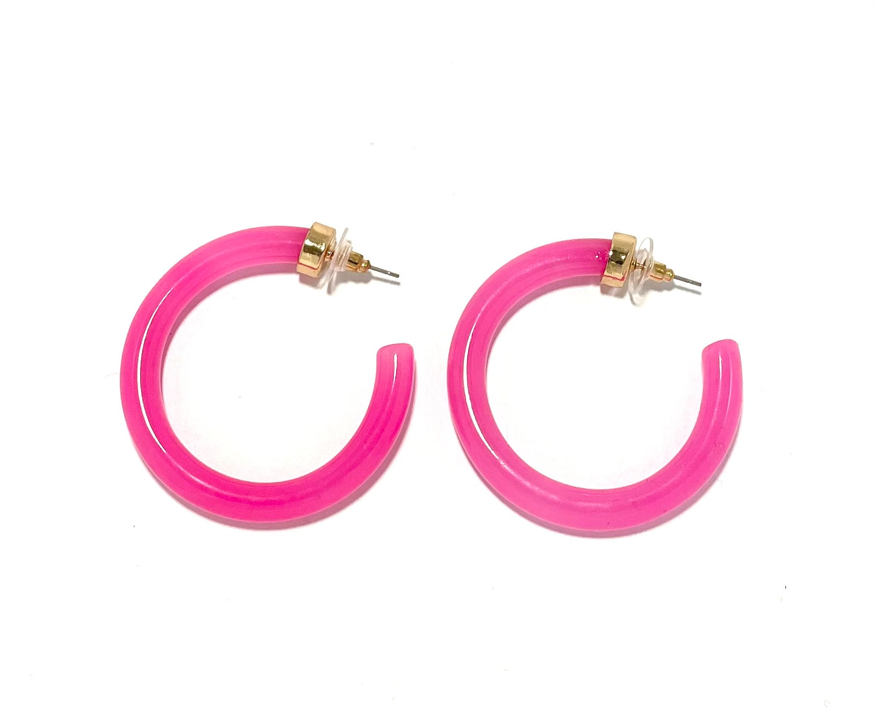 Hot Pink Hoop Ear