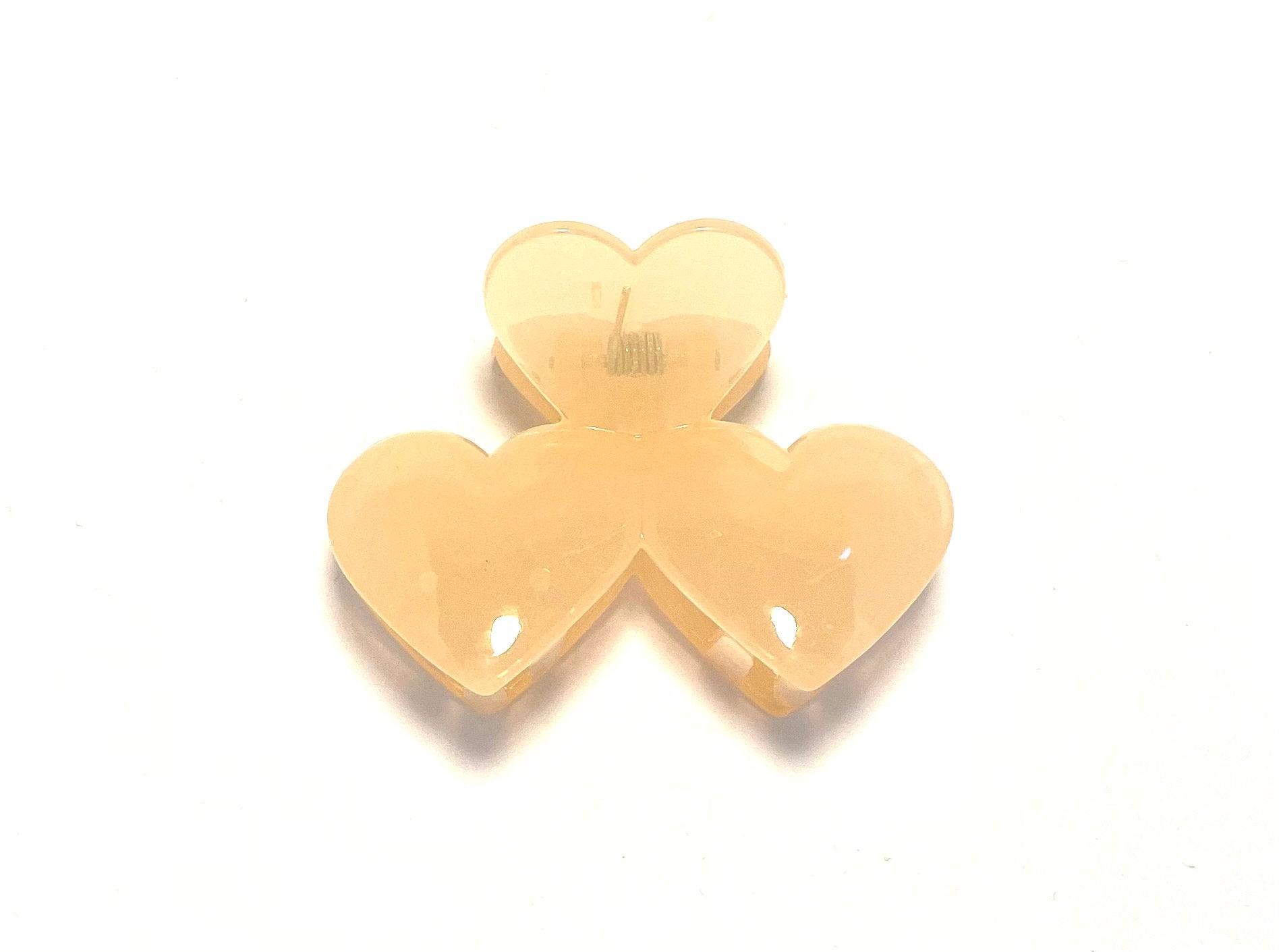 Heart Hairclip - Clear Pearl