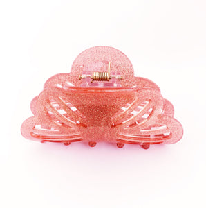 Glitter Stencil Hairclip - Pink