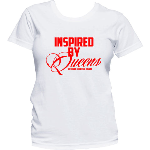 Inspired By Queens Tee (White & Red)
