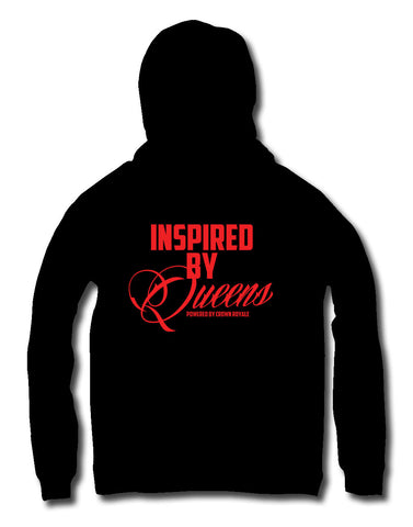 Inspired By Queens Hoodie (Black & Red)