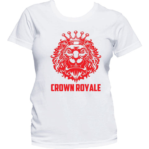 Ladies King Of Kings Tee (White & Red)