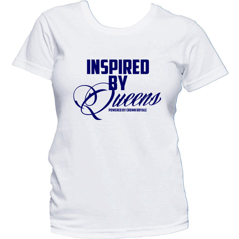 Inspired By Queens Tee (White & Blue)
