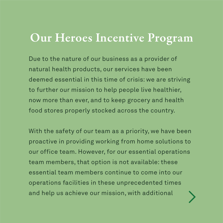 Our Heroes Incentive Program