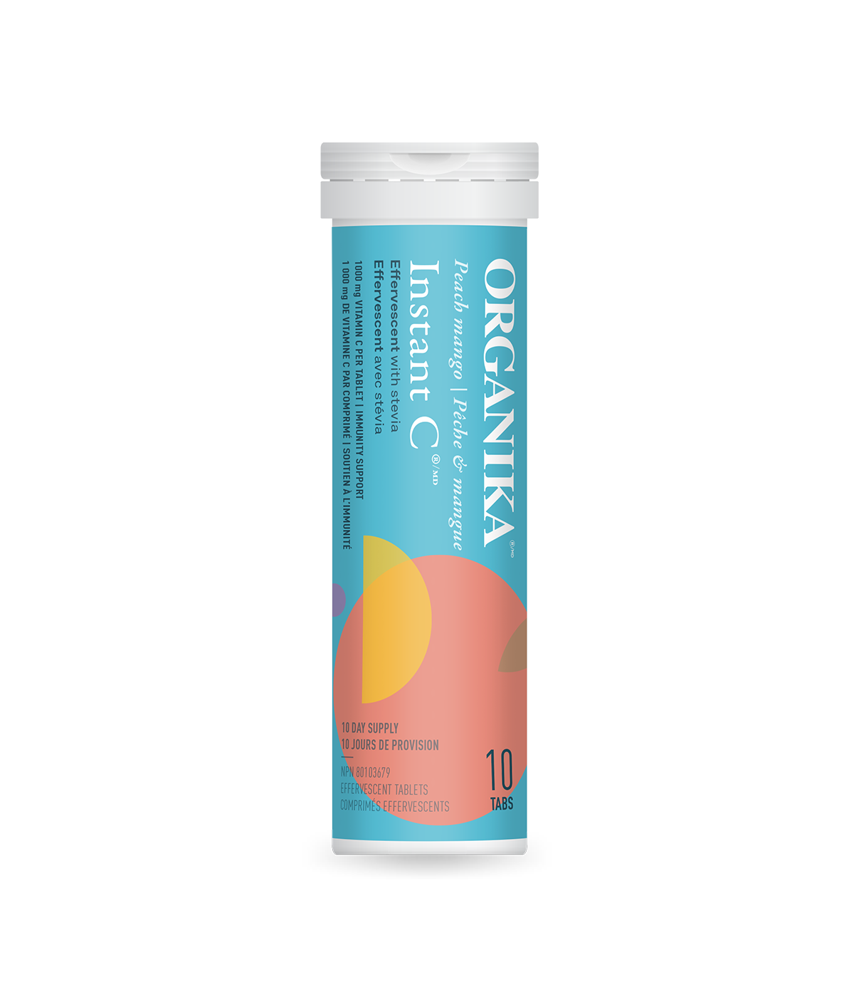Instant C Effervescent with Stevia - Peach Mango