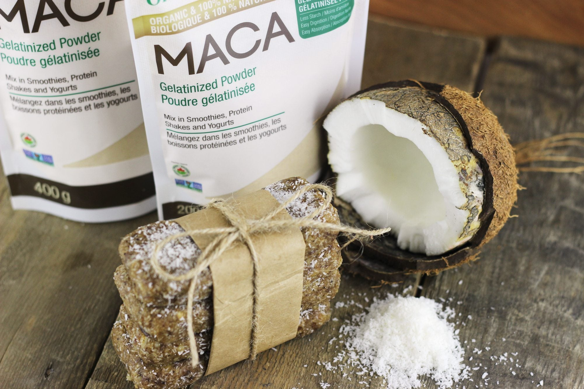 coconut cream maca bars | best hiking snacks