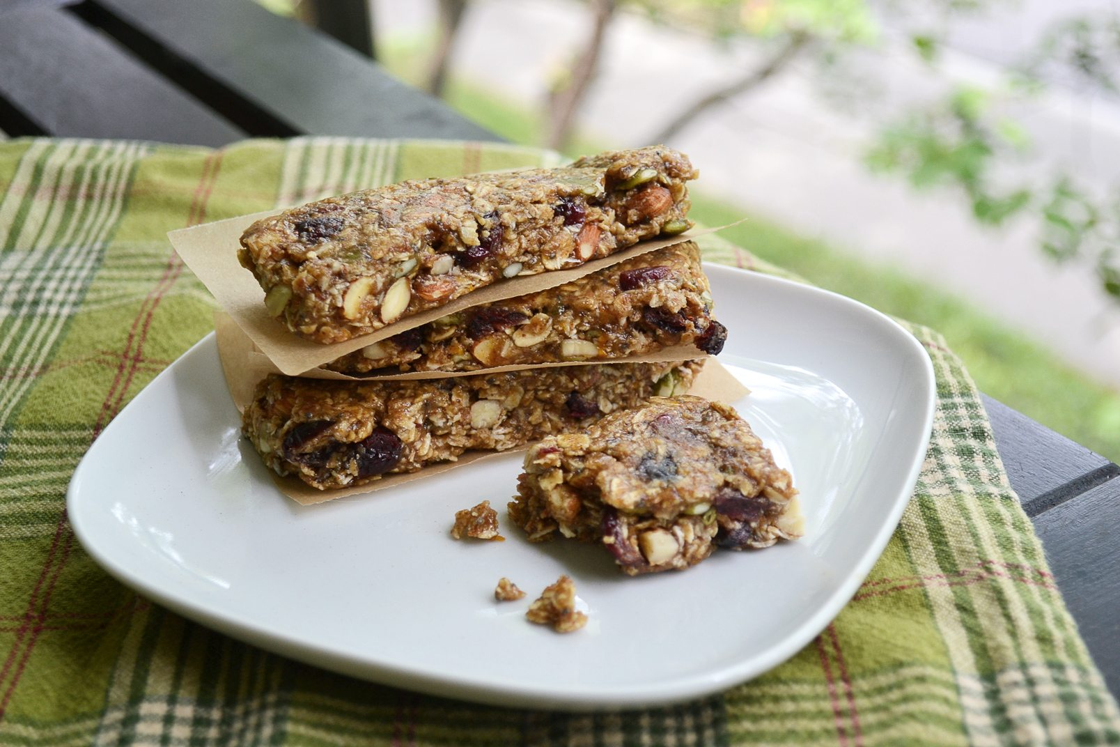 orange cranberry granola bars | best hiking snacks