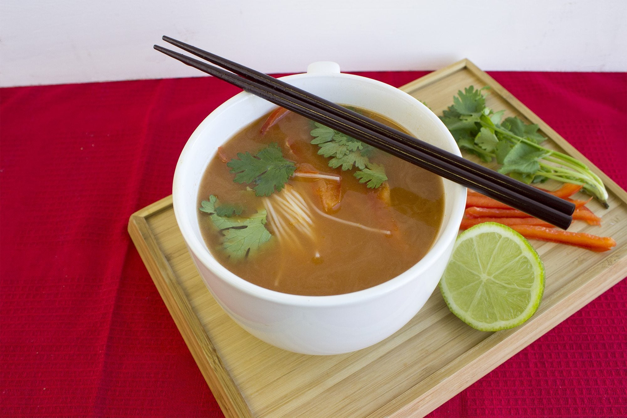 Your Broth Your Way - Organika's Bone Broth Protein Powder in an Thai style soup.