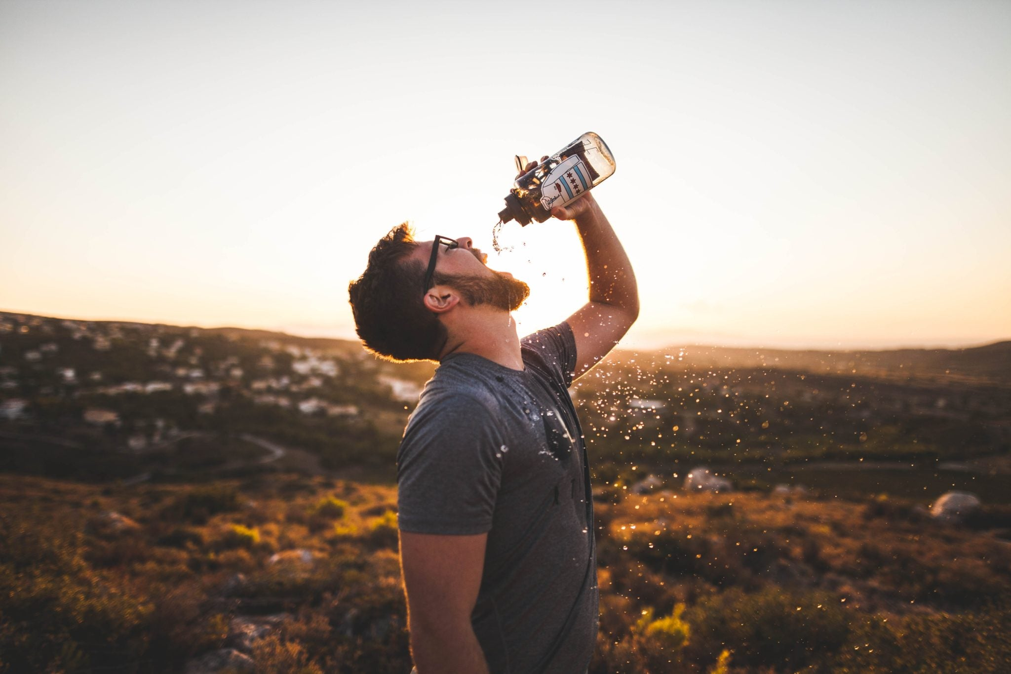 keeping hydrated with water