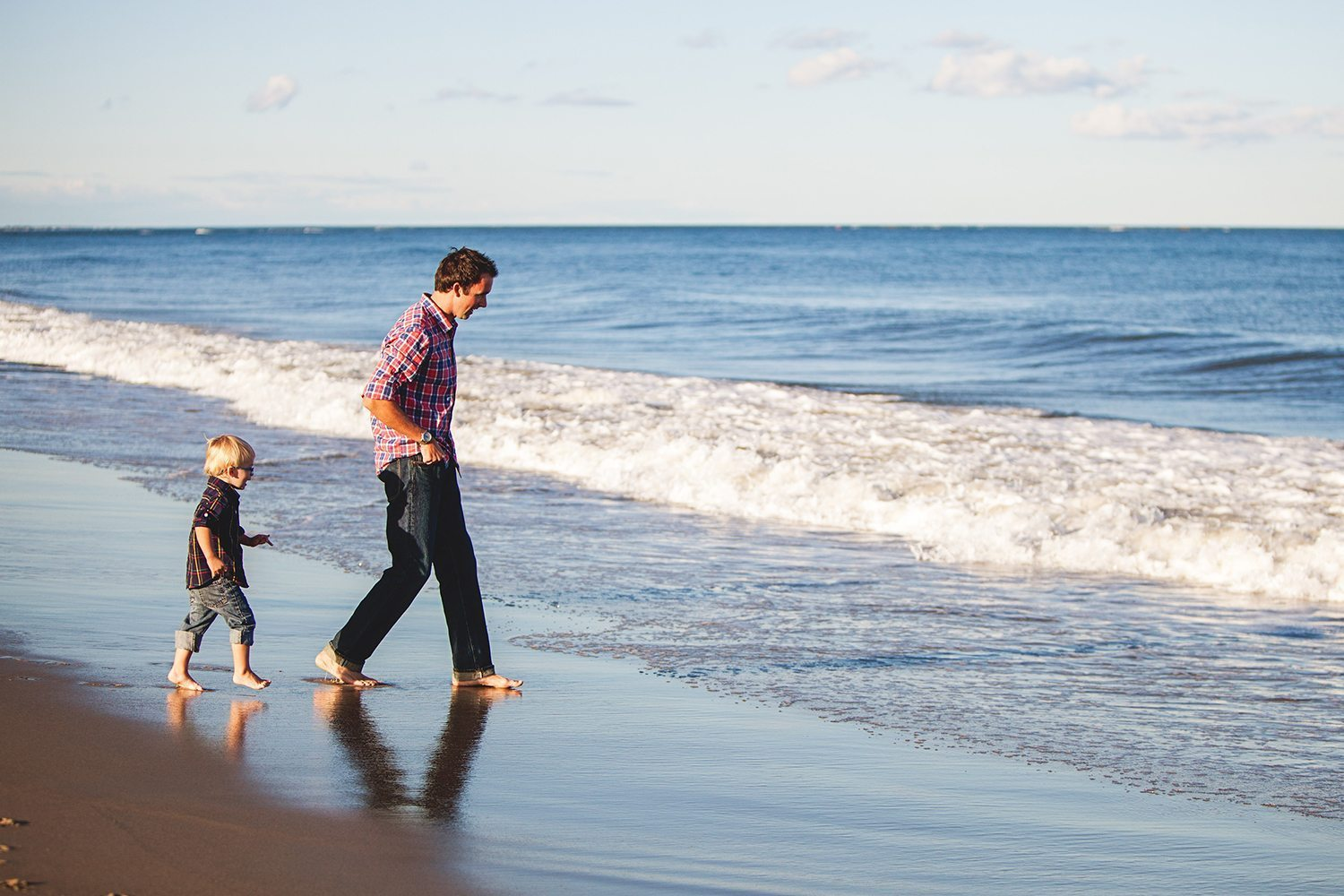 Father_Son_Walking_on_Beach