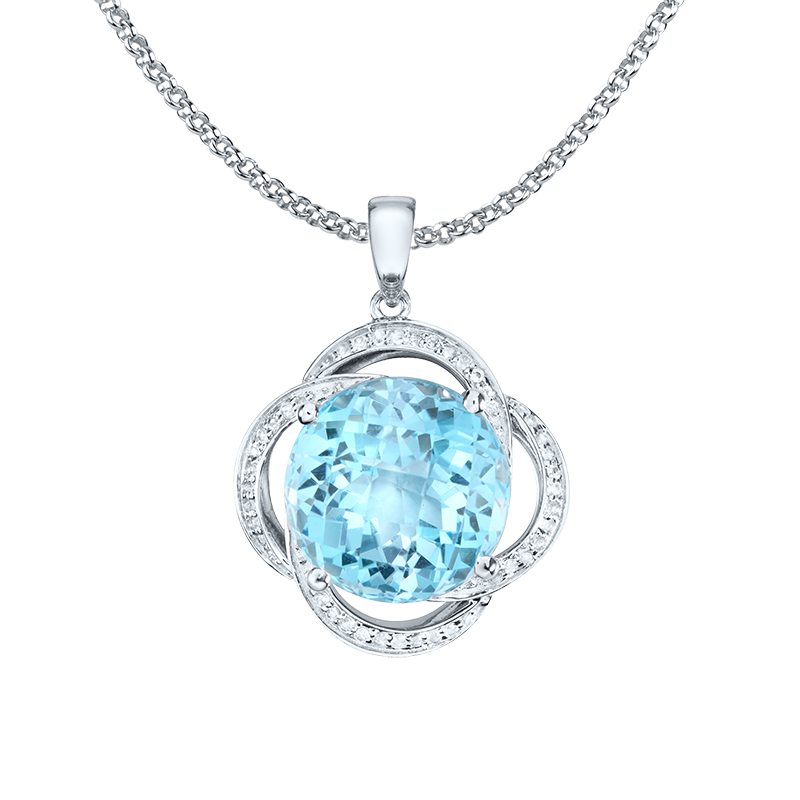Luna Pendant Necklace - CA30-P01-SBT