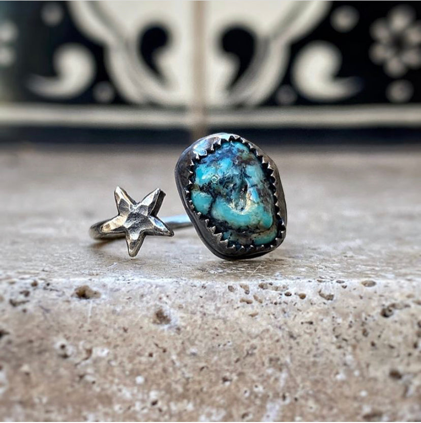 star and turquoise ring