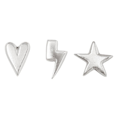Lightning Heart & Star for Jewelry Making