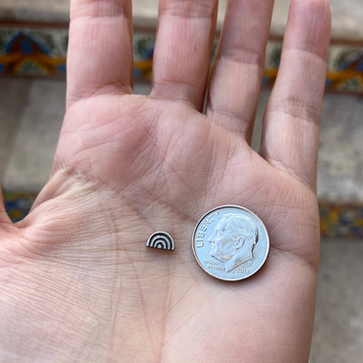 Rainbow Sterling Silver Finding next to dime
