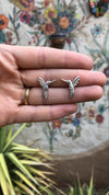 sterling silver hummingbird casting with mirrored image