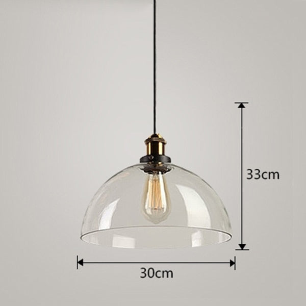 Amber Glass Pendant Lamp