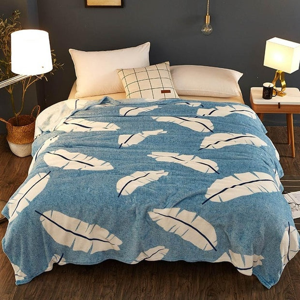 Galxy blue flannel Blanket