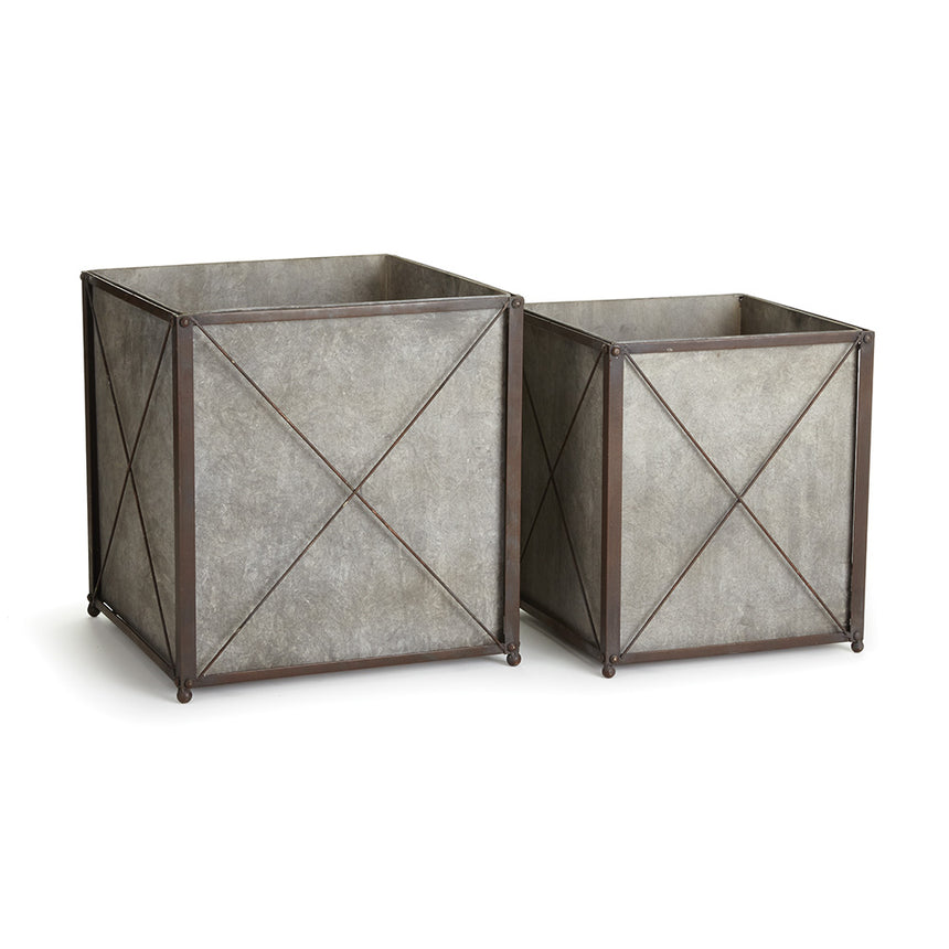 Cedar Ridge Planters, Set Of 2