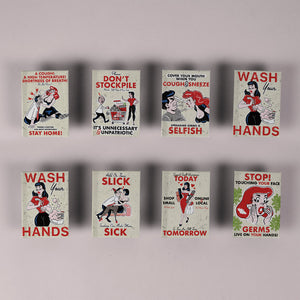 HE Creative - Set of 8 Assorted Fridge Magnets