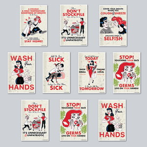 HE Creative - Assorted Set of 10 Posters