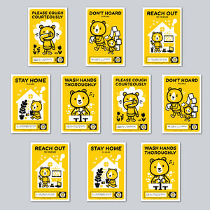 Little Friends of Printmaking - Assorted Set of 10 Posters
