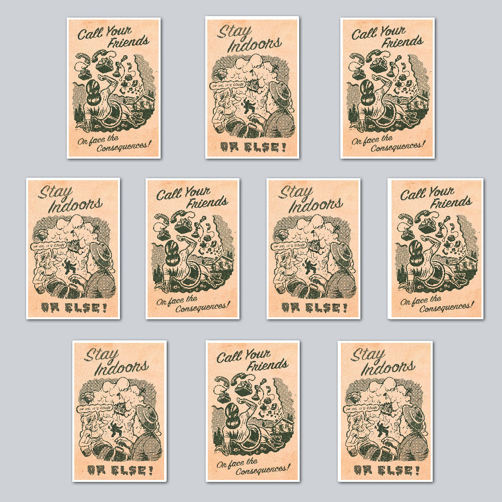 Curt Merlo - Assorted Set of 10 Posters