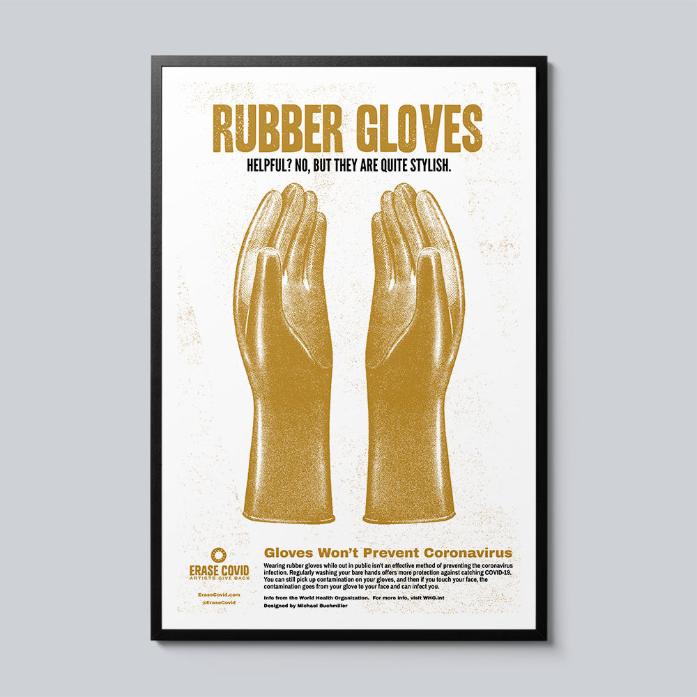 Rubber Gloves - Set of 10 Posters
