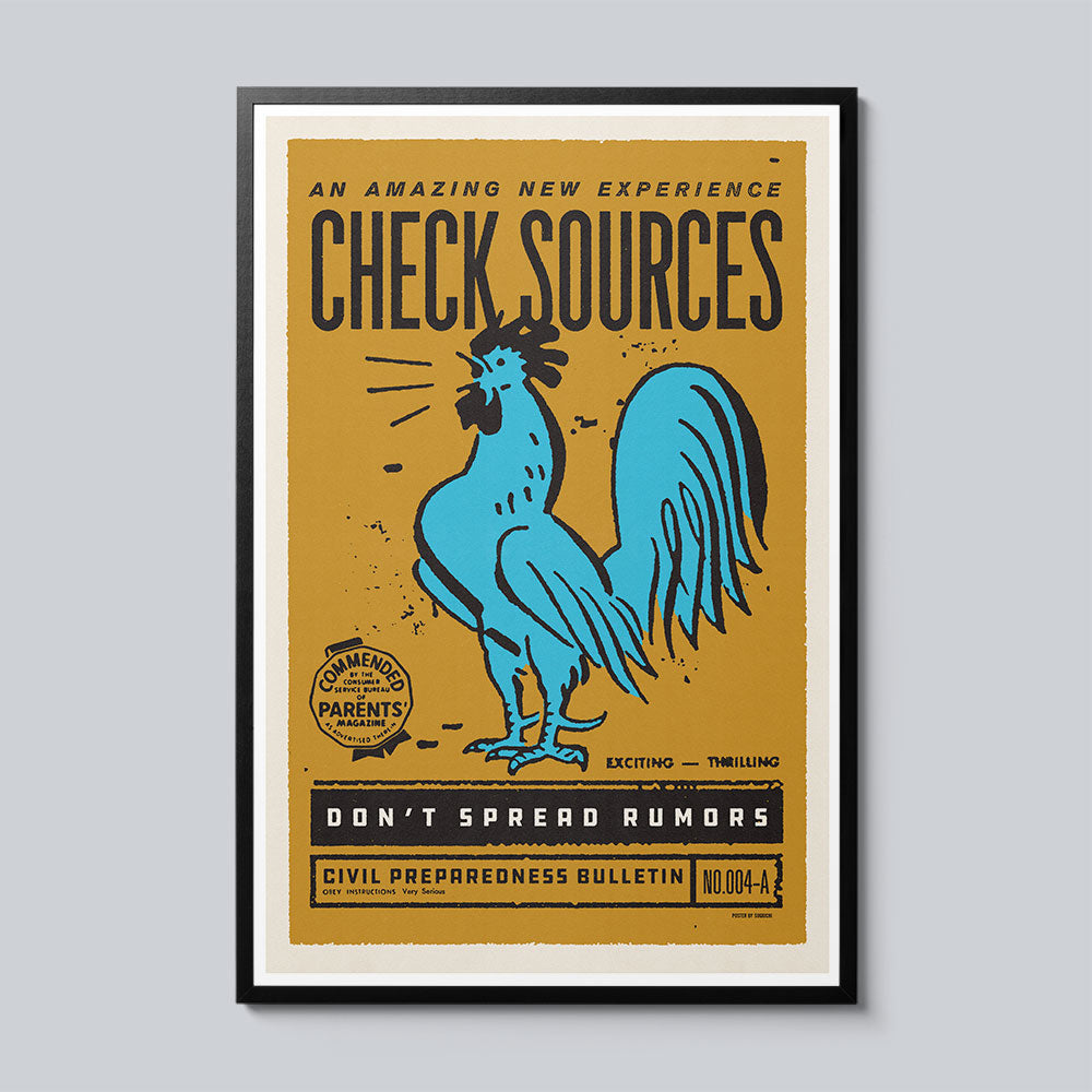 Check Sources - Set of 10 Posters