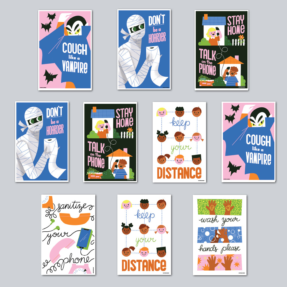Ellen Surrey - Assorted Set of 10 Posters
