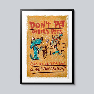 Don't Pet Other's Pets - Set of 10 Posters