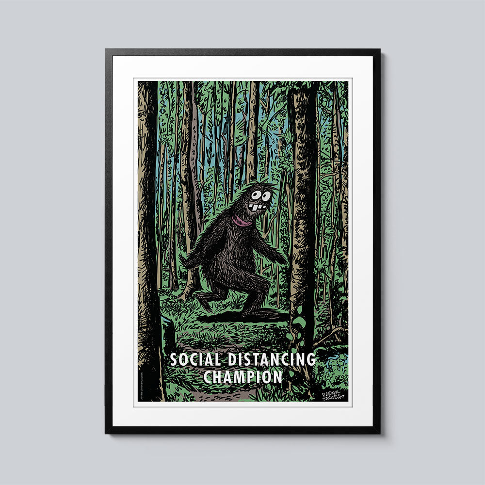 Social Distancing Champion - Set of 10 Posters