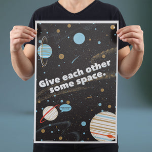 Give Each Other Some Space - Set of 10 Posters
