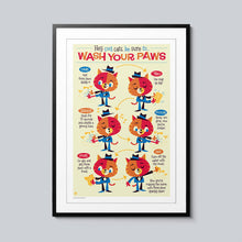 Load image into Gallery viewer, Wash Your Paws - Set of 10 Posters
