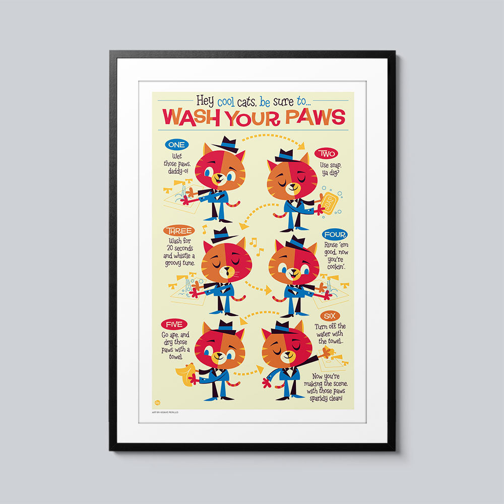 Wash Your Paws - Set of 10 Posters