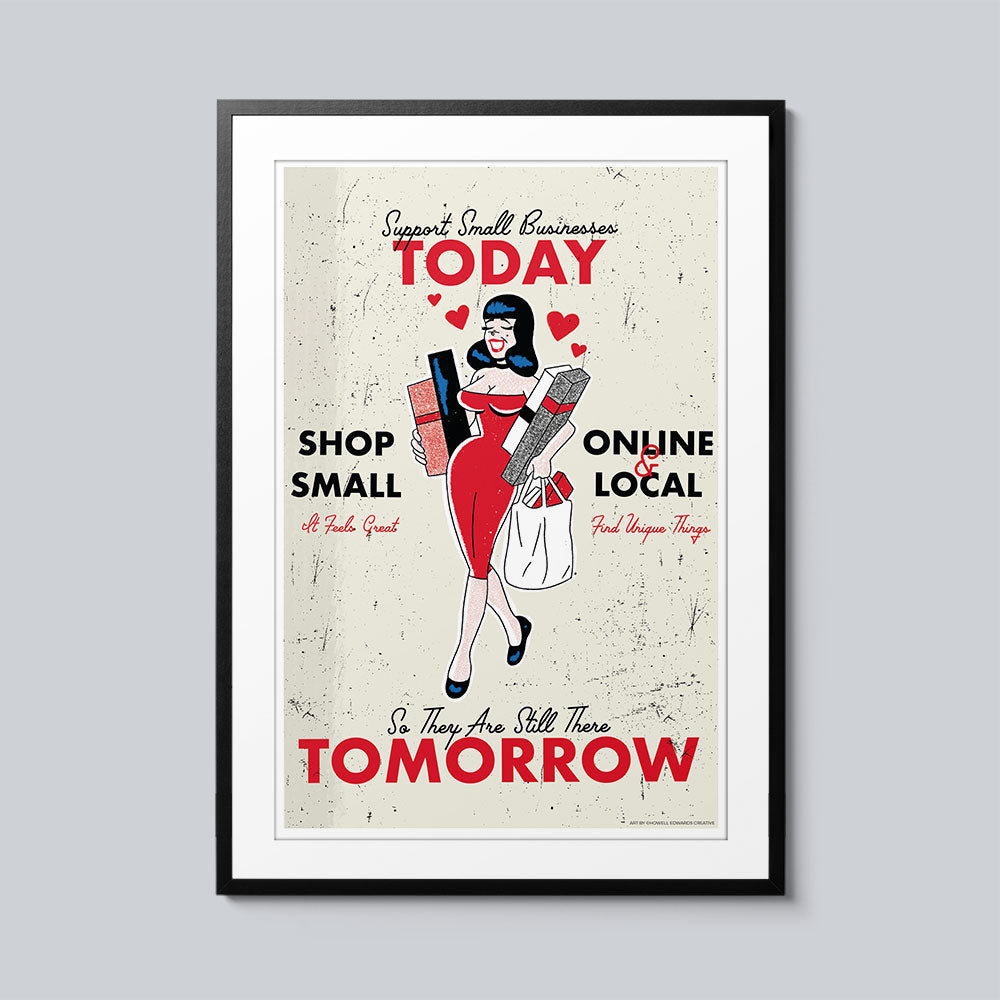 Support Small Businesses Today - Set of 10 Posters