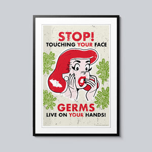Stop Touching Your Face - Set of 10 Posters
