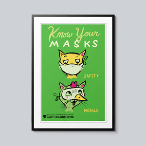 Know Your Masks - Set of 10 Posters