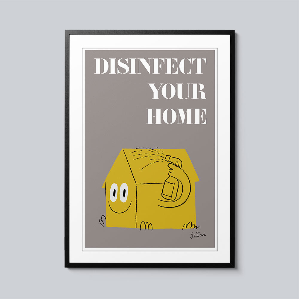 Disinfect Your Home - Set of 10 Posters