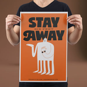 Stay Six Feet Away - Set of 10 Posters