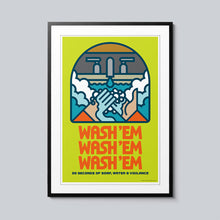 Load image into Gallery viewer, Wash 'Em - Set of 10 Posters
