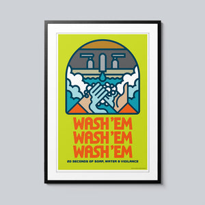 Wash 'Em - Set of 10 Posters