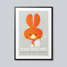 Load image into Gallery viewer, Scrub Those Paws - Set of 10 Posters