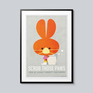 Scrub Those Paws - Set of 10 Posters