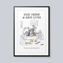 Load image into Gallery viewer, Stay Home & Save Lives - Set of 10 Posters