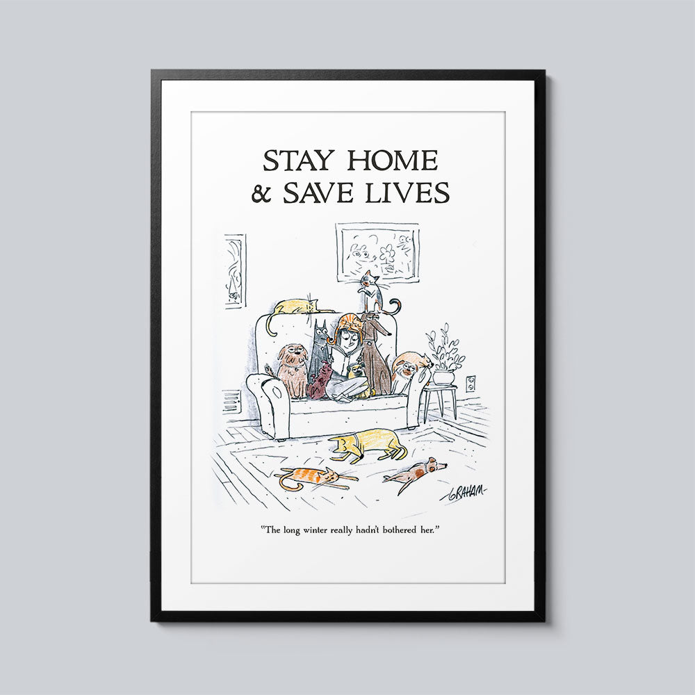 Stay Home & Save Lives - Set of 10 Posters