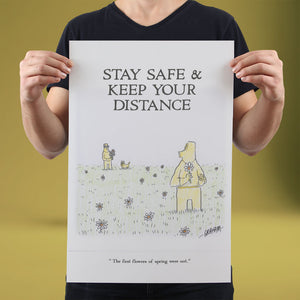 Stay Safe & Keep Your Distance - Set of 10 Posters