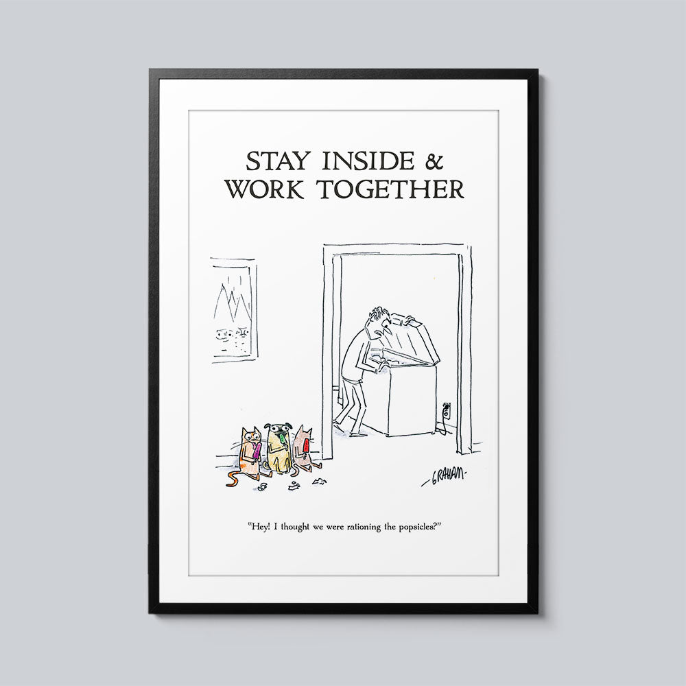 Stay Inside & Work Together - Set of 10 Posters